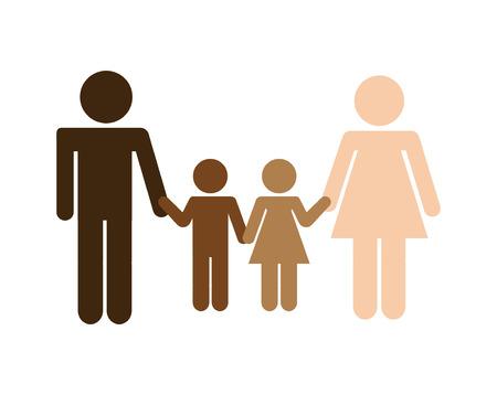 multiethnic: multiethnic community design, vector illustration  graphic