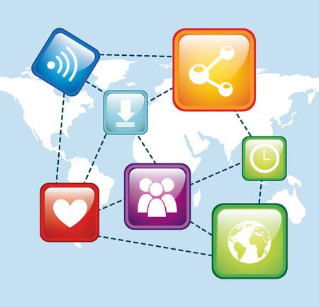 social media design, vector illustration  graphic