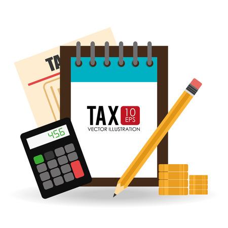 tax: Tax design over white background, vector illustration. Illustration