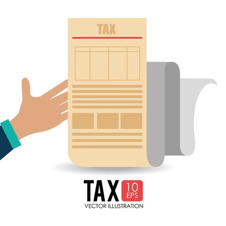 millionaire: Tax design over white background, vector illustration. Illustration