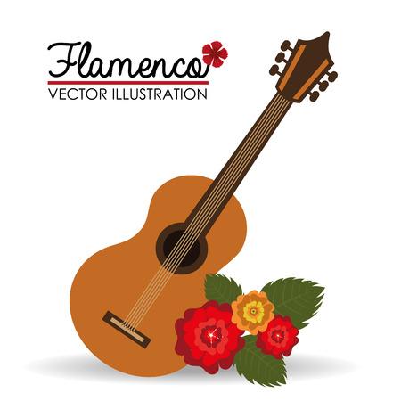 spanish fan: Flamenco design over white background, vector illustration.