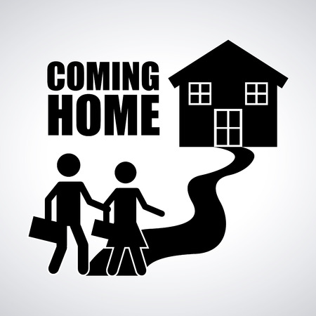 come back: coming home design, vector illustration  graphic