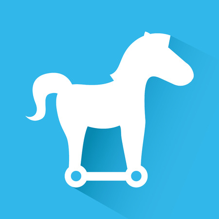 cavallo di troia: disegno cavallo di Troia, illustrazione grafica vettoriale eps10