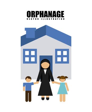 orphanage: orphanage concept  design, vector illustration  graphic