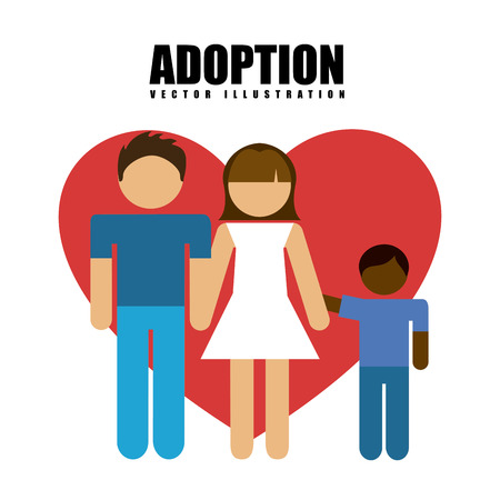 adoption: adoption concept design, vector illustration eps10 graphic