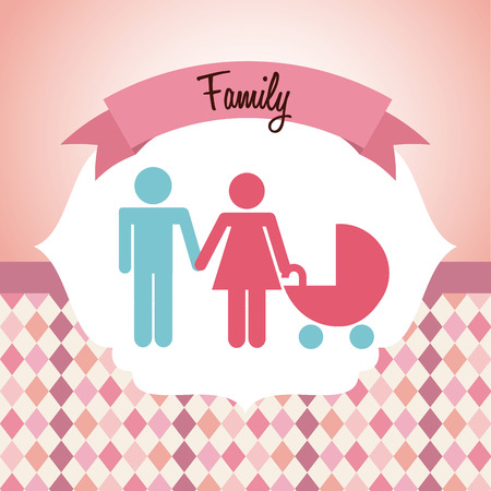 babby: happy family design, vector illustration  graphic Illustration