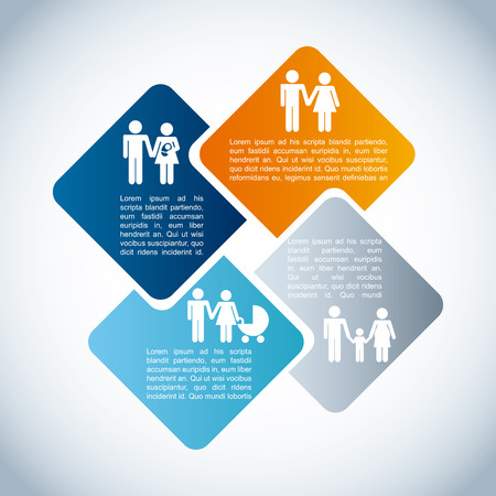 family infographic design, vector illustration eps10 graphic Vector