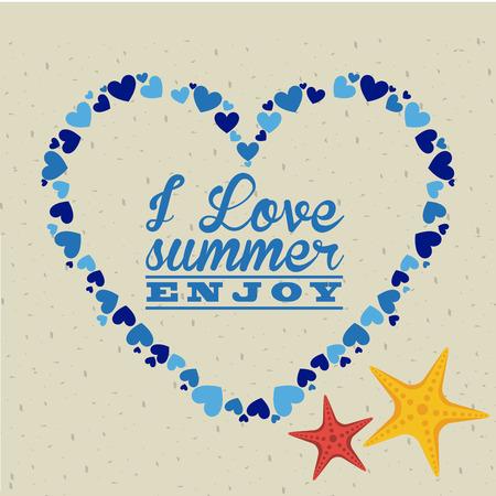 summer day: dise�o de d�a de verano, ilustraci�n vectorial gr�fico eps10 Vectores