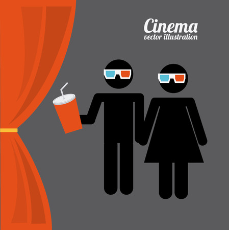 courtain: cinema concept design, vector illustration eps10 graphic