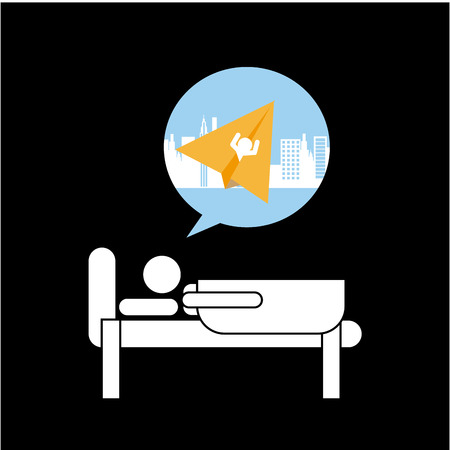 futurist: paper dreams design, vector illustration  graphic