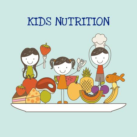 nutrition: kids nutrition design, vector illustration  graphic