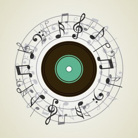 lp: music concept design, vector illustration graphic