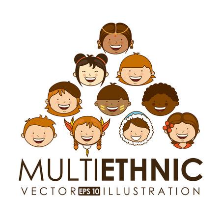 multiethnic community design, vector illustration graphic Vector Illustration