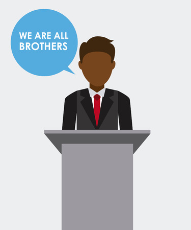 multiethnic community design, vector illustration graphic Vector