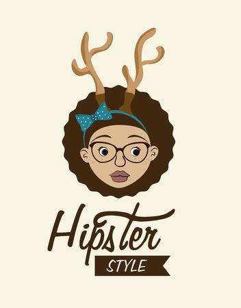 mister: Hipster design over white background, vector illustration.