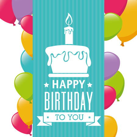 birthday card: Happy Birthday card design, vector illustration.