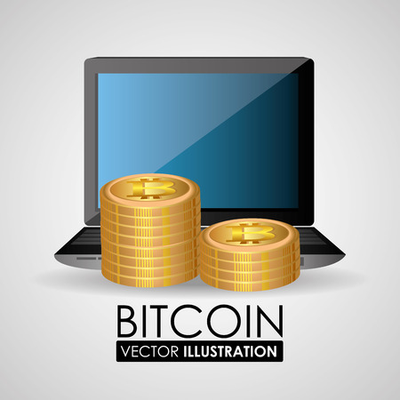 millionaire: Bitcoin design, vector illustration.