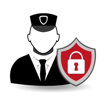 Security design, vector illustration. Illustration