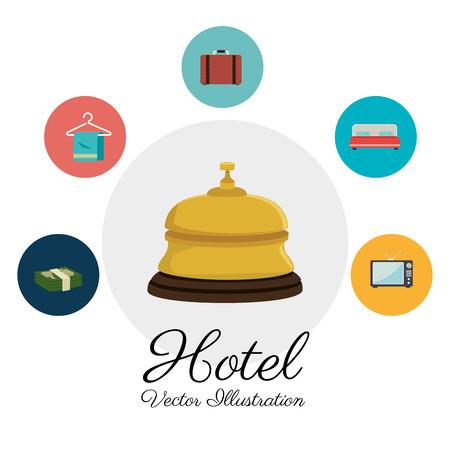 haversack: Hotel design over white background, vector illustration.