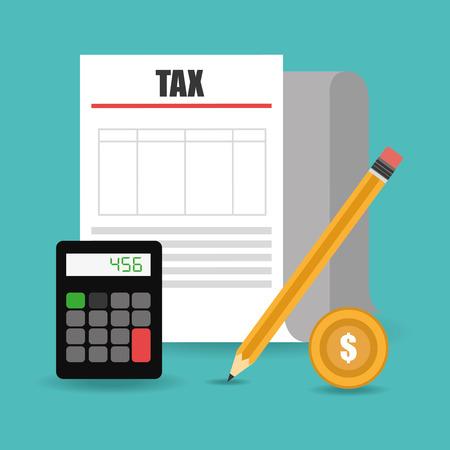 million: Tax design over white background, vector illustration. Illustration