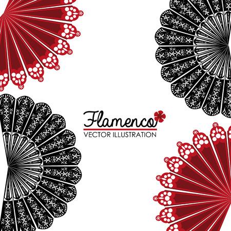 白い背景に、ベクトル図をフラメンコのデザイン。  イラスト・ベクター素材