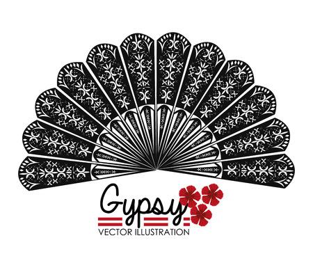 spanish culture: Flamenco design over white background, vector illustration.