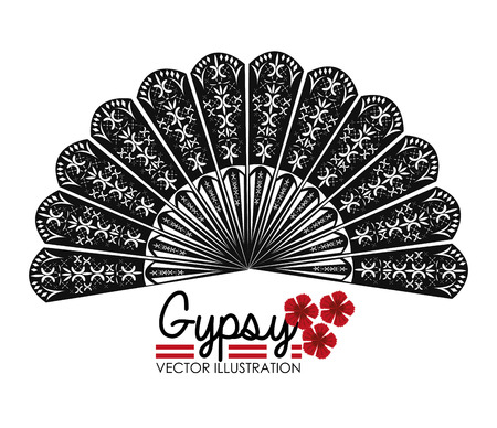 Flamenco ontwerp op een witte achtergrond, vector illustratie.