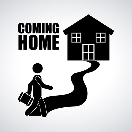 on coming: coming home design, vector illustration eps10 graphic
