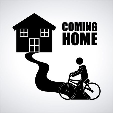 come back: coming home design, vector illustration eps10 graphic