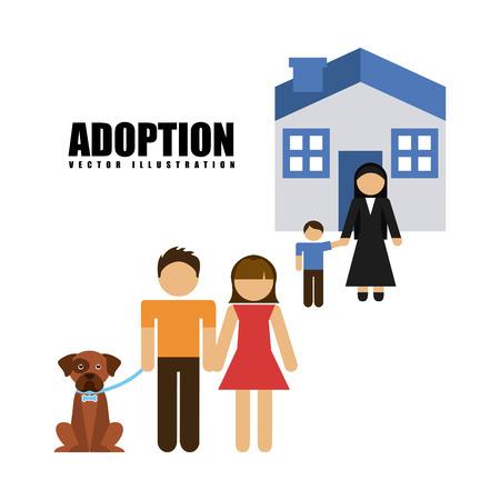 adoption: adoption agency design, vector illustration eps10 graphic