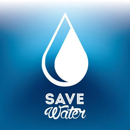 ahorrar agua: guardar el agua de dise�o, ilustraci�n vectorial gr�fico eps10 Vectores