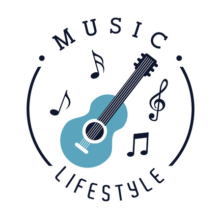 gutar: music lifestyle design, vector illustration eps10 graphic