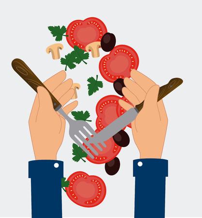 nutritive: Restaurant design over white background, vector illustration.