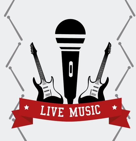 tracks live: Music design over white background,vector illustration. Illustration