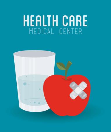 ban aid: Medical design over blue background, vector illustration.