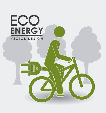 白い背景に、ベクトル図エコロジー設計。  イラスト・ベクター素材