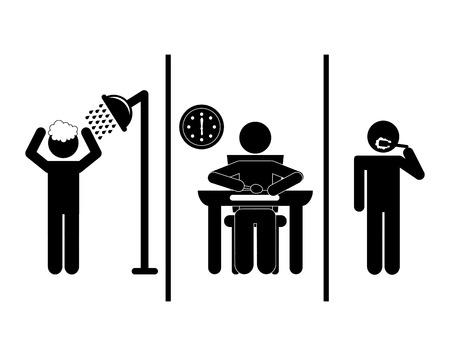 毎日ルーチンのデザイン、ベクター イラスト eps10 グラフィック