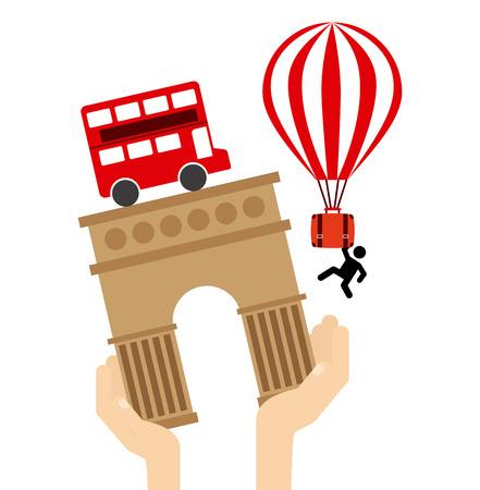 buss: holiday travel design, vector illustration Illustration