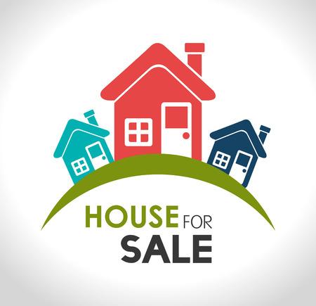 modern house exterior: Real estate design over white background, vector illustration.