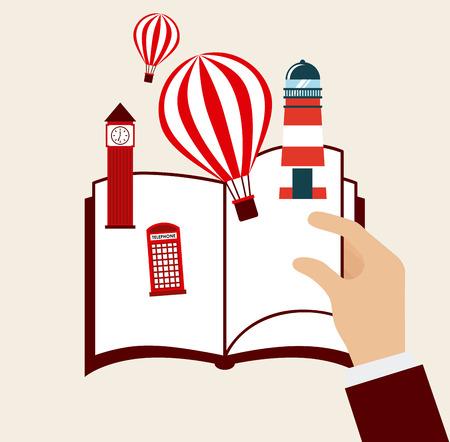 book concept design, vector illustration