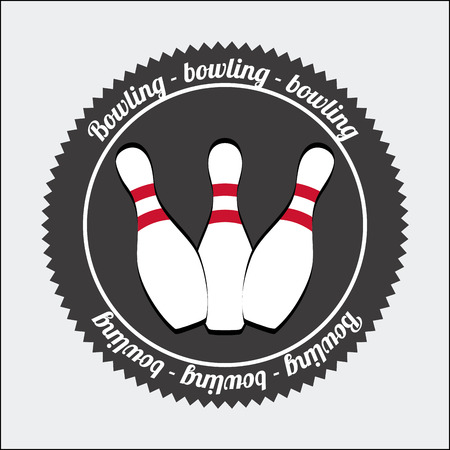 bowling sport design, vector illustration Vector