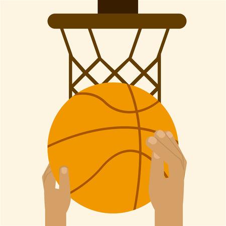 balon baloncesto: dise�o de deporte de baloncesto, ilustraci�n vectorial