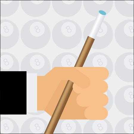 cues: billiard emblem design, vector illustration Illustration