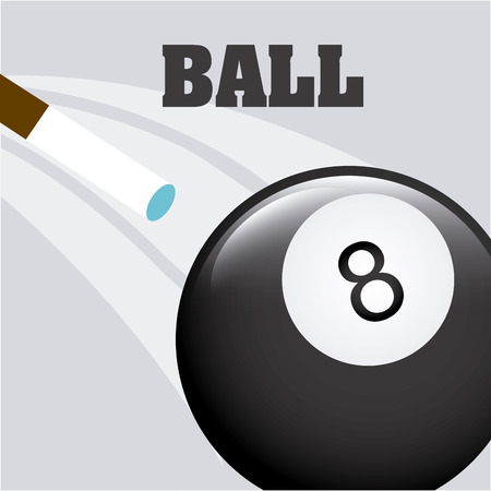 snooker cues: billiard emblem design, vector illustration