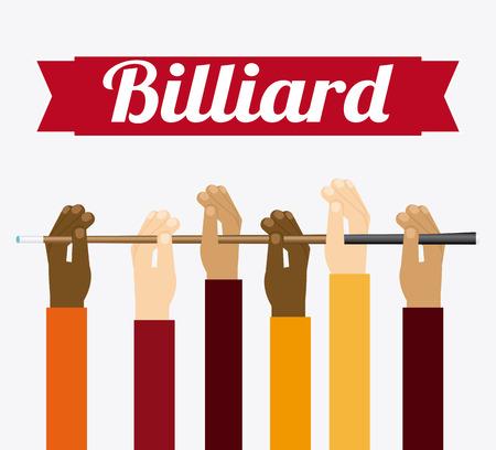 snooker cues: billiard emblem design, vector illustration Illustration