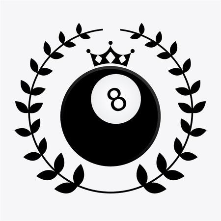 billiard emblem design, vector illustration