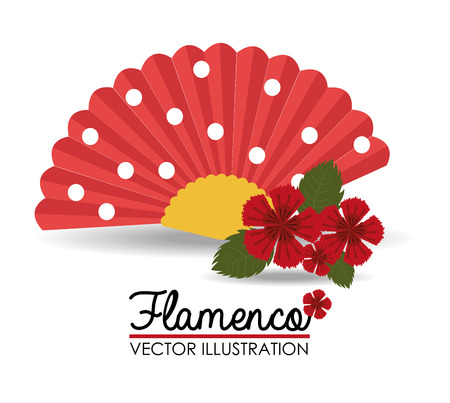 flamenco dress: Gipsy design over white background, vector illustration. Illustration