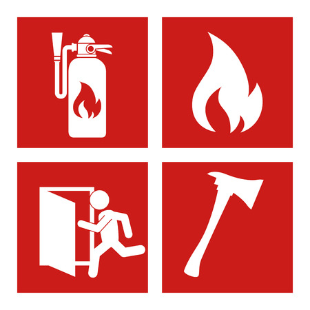 firefighting: Emergency design over white background.