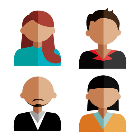 male face profile: People design, vector illustration. Illustration