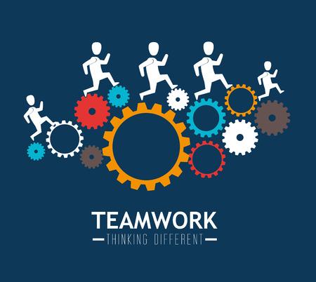trabajo de equipo: Trabajo en equipo de dise�o, ilustraci�n vectorial.